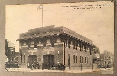JERSEY CITY, NJ Postcard, Fire Station, New Engine House 19 and 20, 1911