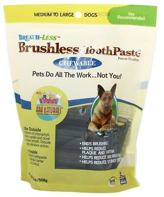 Ark Naturals - Breath-Less Chewable Brushless-Toothpaste for Medium to Large