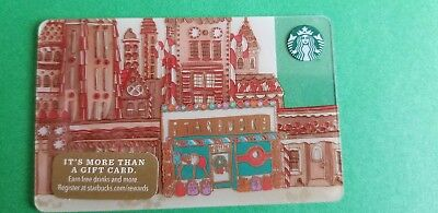Starbucks 2017 Christmas Gingerbread City Holiday Gift Card (no value, new)
