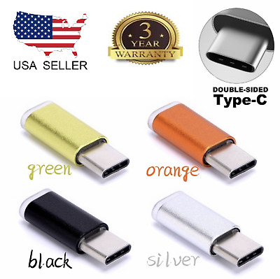 3x Metal Micro USB  Type-C 3.1 Male Data  Charger Adapter for Samsung Galaxy S8