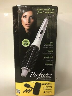 Calista Perfecter Fusion Styler Heated Round Hair Brush New W/ Bonus 5 pieces
