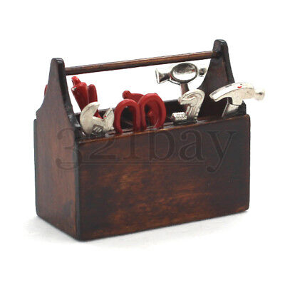 Miniature Tool Box for Dollhouse 1:6 Scale Doll Accessories 1/6 Scale Diorama