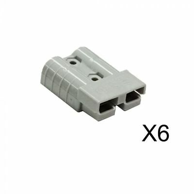 NEW 6X Premium Anderson Style Plug 50AMP Exterior Connector DC Power Solar 4WD