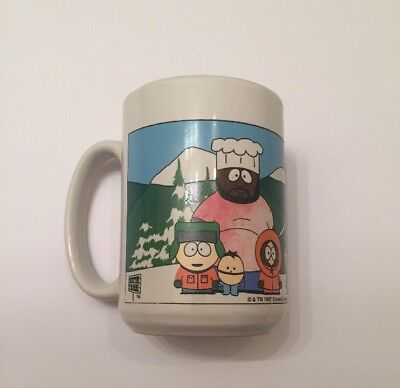 South Park The Whole Gang Coffee Cup Mug Comedy Central RARE 1997 Free Shipping