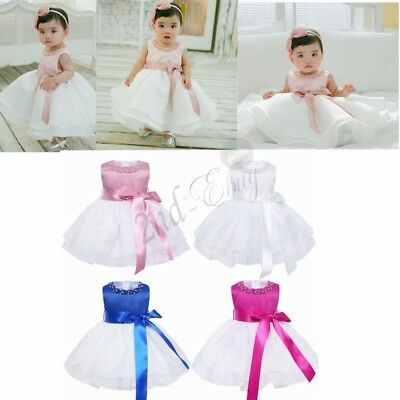 Flower Girls Kids Baby Princess Party Pageant Wedding Communion Tutu Dresses