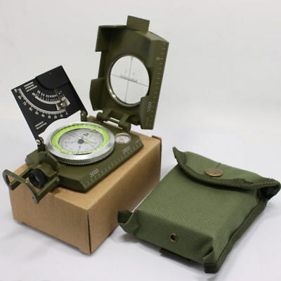Compass Military Reconnaissance Lensatic Compass For Camping Olive Drab