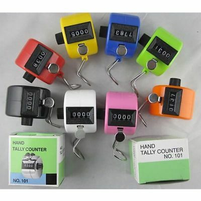 Mini 4 Digit Hand Tally Number LCD Counter Click Clicker Counting Manual Useful
