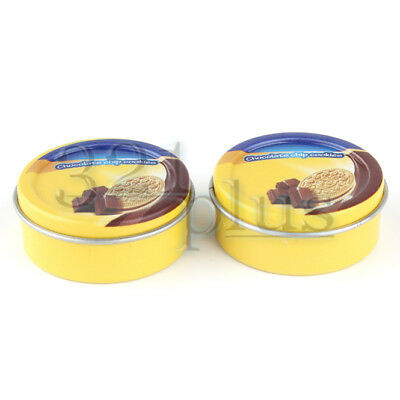 2 pcs. Dollhouse Boxes Miniature Cookie Jars Miniature Grocery Tins Grocery 1:12