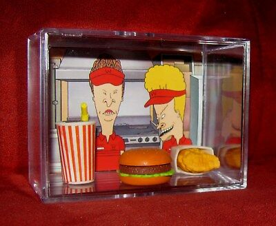 "BEAVIS AND BUTTHEAD ""Burger World Lunch Special 2"" DISPLAY..BRAND NEW..."