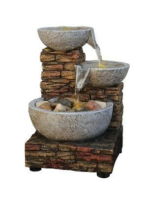 Amazing Tabletop Waterfall Fountain With Light And Indoor Water Home Decor Feature Led New
