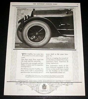 1918 Old Magazine Print Ad, Cadillac Motor Car Company, Weed Out The Unworthy!