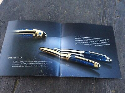Montblanc Unicef Dealer Brochure Booklet Documents