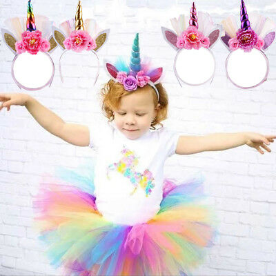 Unicorn Horn Head Magical Party Girl Hair Headband Fancy Dress Cosplay Decor USA
