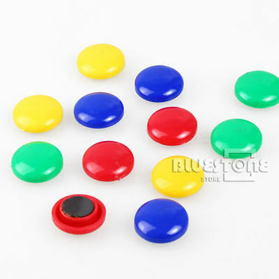 10Pcs Memo Message Note Whiteboard Round Magnetic Pin Button Fridge Magnet