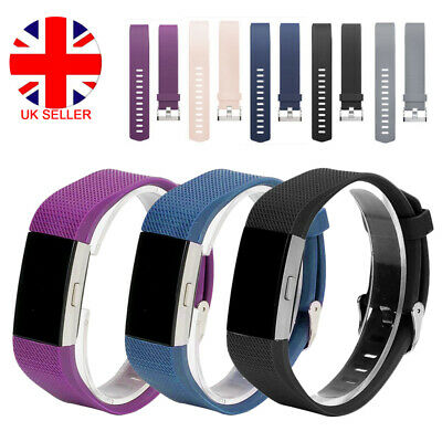 For FitBit Charge 2 Watch Strap Replacement Wrist Band Classic Metal Buckle L4U