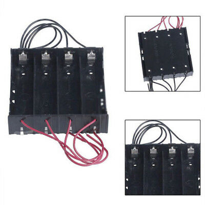 For 4x 18650 Rechargeable Battery Plastic Battery Holder Storage Box Case