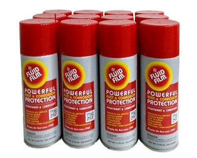 12 Pack Fluid Film Corrosion Rust Protect Prevention Lubricant, 11.75 Oz