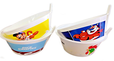 Kids Tip' N Sip' Cereal Bowls With Built In Straw