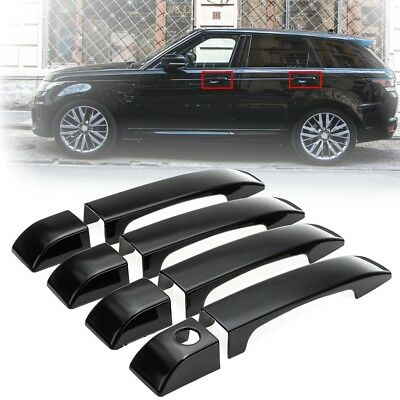 8x For 2002-2012 Land Rover Range Vogue L322 Gloss Black Door Handle Covers Trim