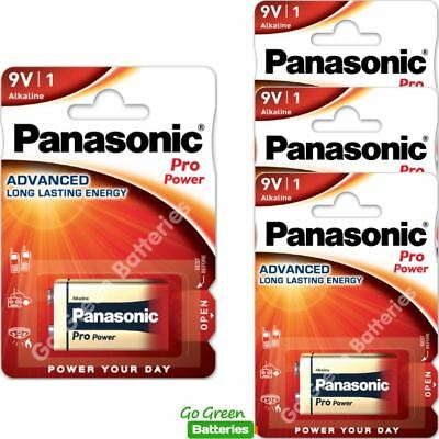 4 x Panasonic 9V PP3 Pro Power Alkaline Batteries, Smoke Alarms, LR22, MX1604