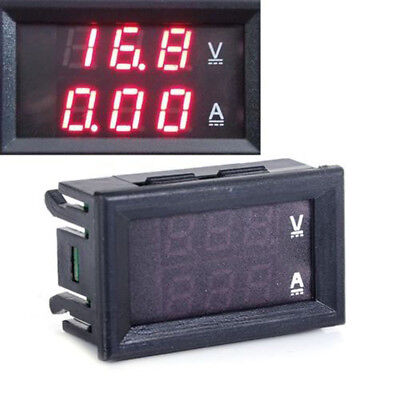 Dual Red LED Digital Voltmeter Ammeter Panel Amp Volt Gauge DC 0-100V 10A