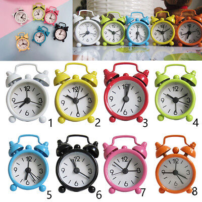 Mini Cartoon Dial Number Round Desk Alarm Clock For Kid House Decoration