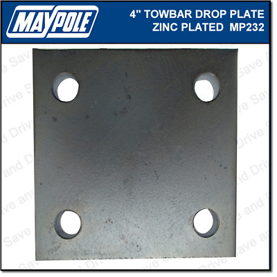 "Maypole Towball 4"" Inch Zinc Drop Plate Towbar Towing Trailer Caravan MP232"