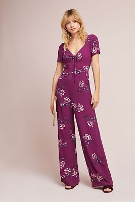 93b5554236ac  218 Anthropologie Yumi Kim Sweetheart Floral Jumpsuit NWT new size PL