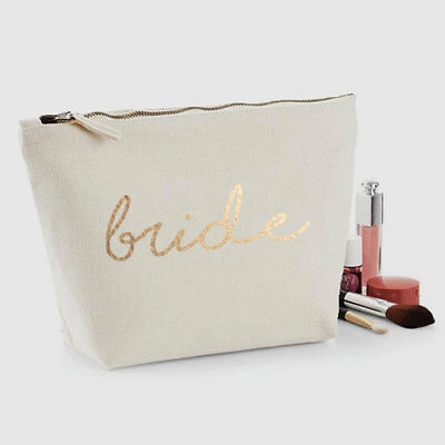 Bride Mrs Graphic Print Cosmetic Case Shaving Kit Make Up Beauty Bag Accessories