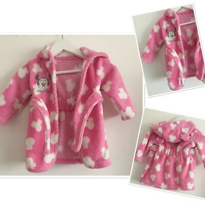 Disney Minnie Mouse Baby Girls Cute Dressing Gown Robe 3-6 Months