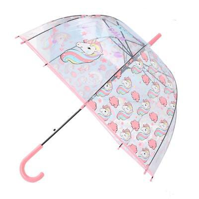Children's Umbrella Transparent Unicorn Pattern Cute Modern Top Quality Parasols