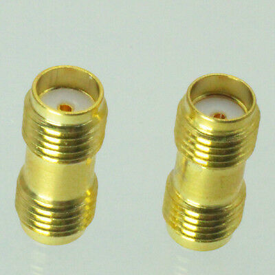 2X Useful SMA Female To SMA Female Jack In Series RF Coaxial Adapter Connector T