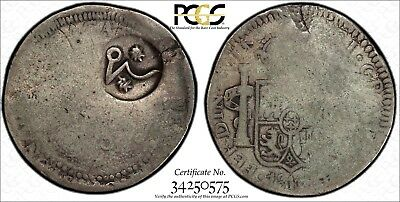 MEXICO War Of Independence 1811 8 Reales C/M Zacatecas 8 Real PCGS FR02 KM# A267