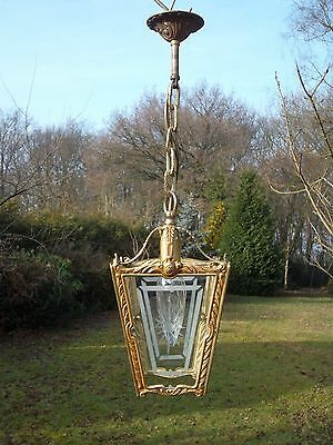 An extremely pretty, brass vintage French  lantern(3193)