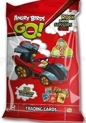 ANGRY BIRDS GO! 9 x PACKS OF TRADING CARDS - 6 CARDS PER PACK NEW SEALED PACKS