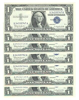 $1 1957 Silver Certificates= 18 consecutive notes= Choice gem new ...