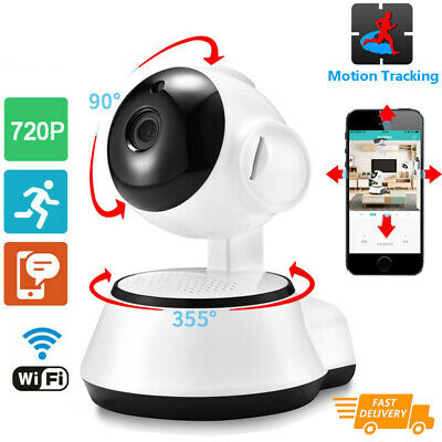 Home Baby Monitor Video Camera 720P HD WiFi Wireless IR Night Vision White I8O1