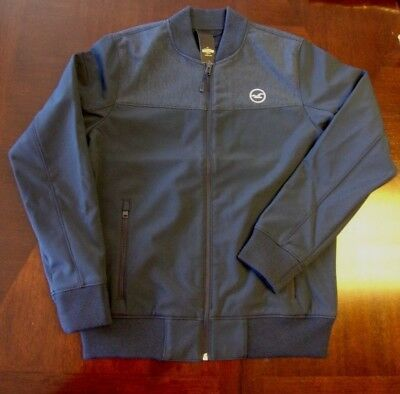 NWT HOLLISTER by Abercrombie Men's Fleece-Lined Bomber Jacket Navy M / L