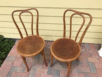 J and J KOHN BENTWOOD CHAIRS,  with labels,  made in Austria