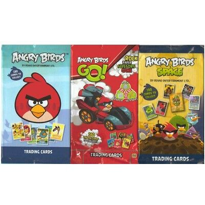 ANGRY BIRDS + SPACE + GO! TRADING CARDS 9 x PACKS 3 OF EACH 6 CARDS PER PACK NEW