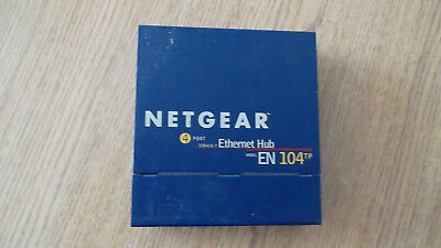 Netgear EN104 4-Port 10Base-T BNC Ethernet Hub 10 Mbps
