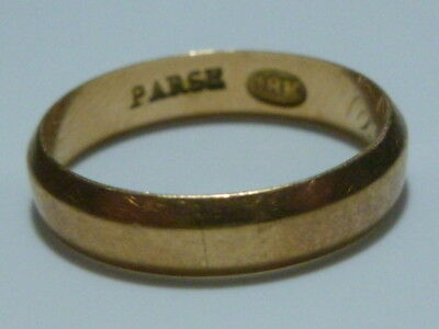 Parse 18K Yellow Gold Wedding Victorian Nouveau Antique Stackable Ring Band