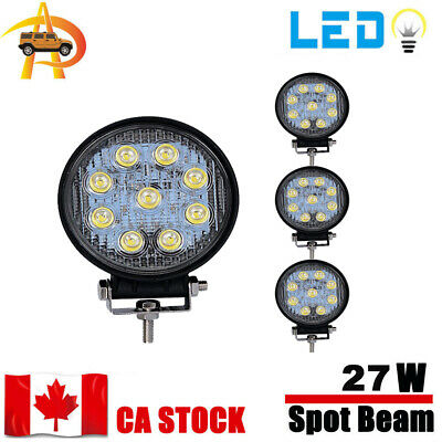 4x 27W LED Work Light Flood offroad Lamp Tractor Truck Boat ATV Jeep 4WD 4Inch