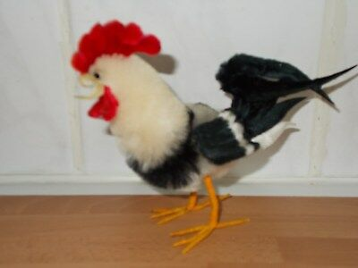 Model Of A Rooster Made Of Faux Fur And Feathers