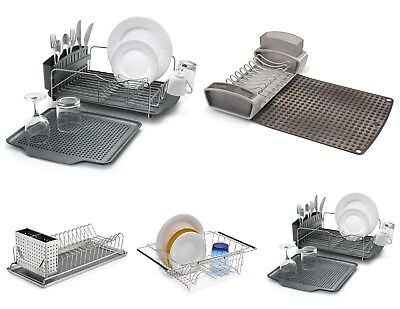 Dish Drainer Washing up Bowls Mugs Draining System Drying Plates Stand Sink Rack