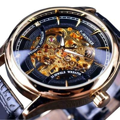 winner F120520 Self-winding mechanische Uhren Mode Leder strap Herren wrist Wat