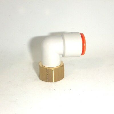 """#KQ2H07-36S SMC Fittings Lot of 10 Brass Male Adapter,3//8/"""" FPT x 1//4/"""" Tube"""