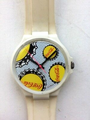 1980s Coca Cola Wrist Watch Dots Bottle Caps Vtg Coke Decor Trademark Swatch Old