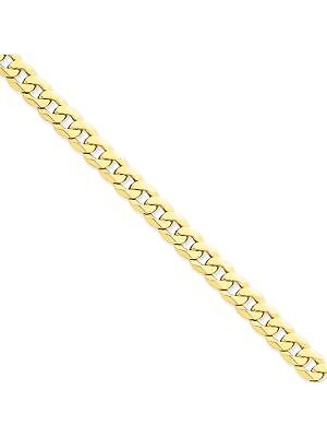 14k Yellow Gold 8mm Wide Solid,Polished Curb Chain Anklet Ankle Bracelet