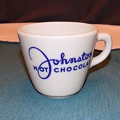 Vintage Johnston Hot Chocolate Advertising Cup By Shenango China New Castle, Pa.